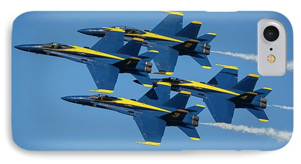 IPhone Case featuring the photograph Blue Angels Diamond Formation by Adam Romanowicz