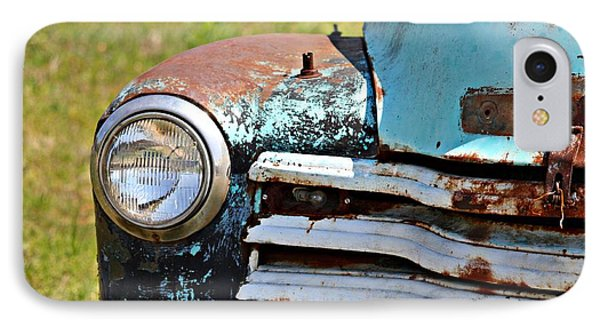 Blue Antique Chevy Grill- Fine Art IPhone Case by KayeCee Spain