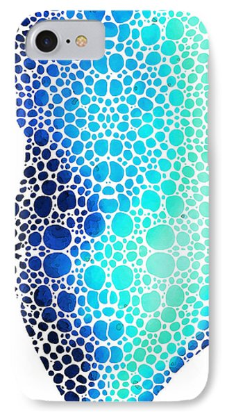 Blue Art - Colorforms 3 - Sharon Cummings  IPhone Case by Sharon Cummings