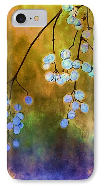 Blue Autumn Berries IPhone Case by Judi Bagwell