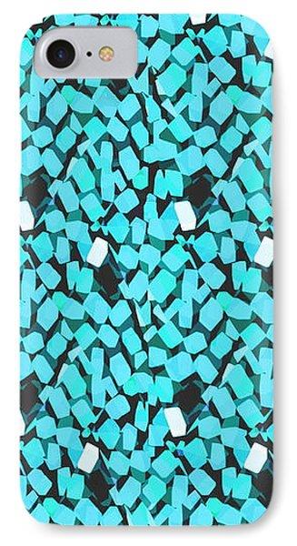 Blue Avalanche Phone Case by Steamy Raimon
