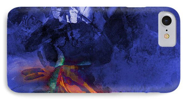 Blue Avatar Abstract IPhone Case by Allison Ashton