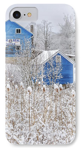 Blue Barns Portrait IPhone Case by Bill Wakeley