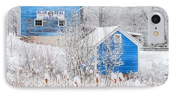 Blue Barns Square IPhone Case by Bill Wakeley