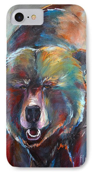 IPhone Case featuring the painting Blue Bear by Cher Devereaux