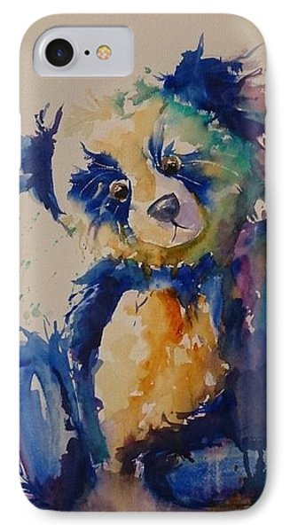 Blue Bear IPhone Case by Kathy  Karas