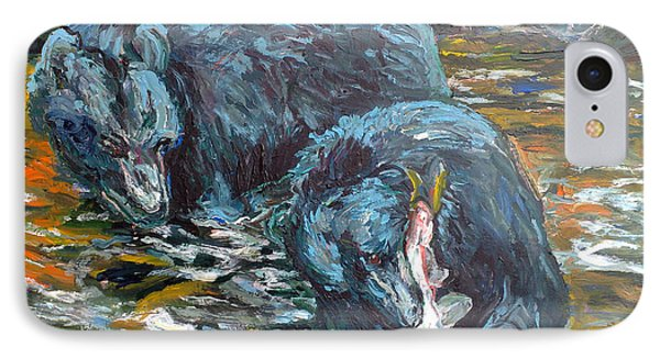 Blue Bears Fishing IPhone Case by Koro Arandia