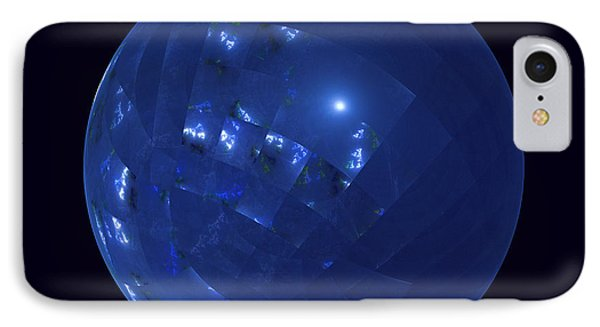 Blue Big Sphere With Squares IPhone Case