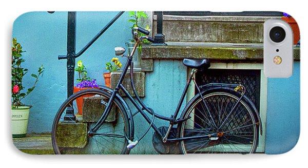 Blue Bike IPhone Case by Jill Smith