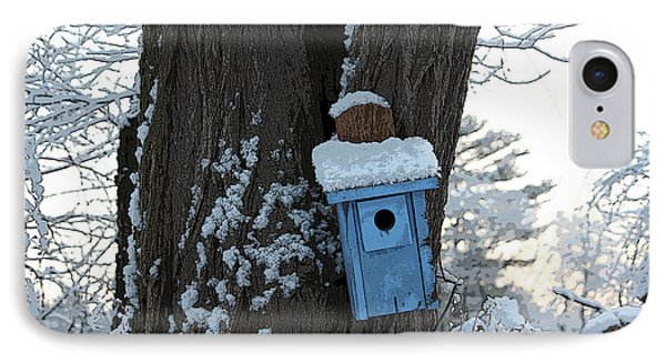 Blue Birdhouse IPhone Case