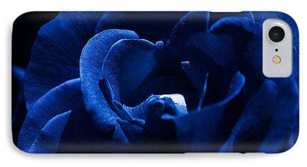 Blue Blue Rose IPhone Case