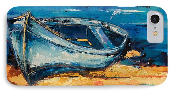 Blue Boat On The Mediterranean Beach IPhone Case