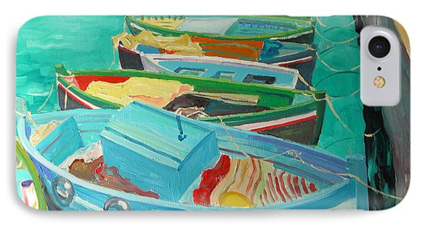 Blue Boats IPhone Case by William Ireland