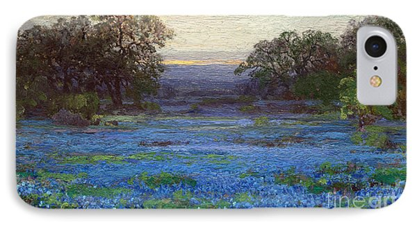 Blue Bonnet Meadows IPhone Case by Roberto Prusso