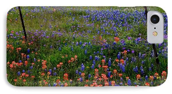 IPhone Case featuring the photograph Bluebonnets #0487 by Barbara Tristan