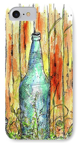 IPhone Case featuring the painting Blue Bottle by Cathie Richardson