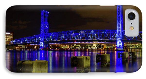 IPhone Case featuring the photograph Blue Bridge 1 by Arthur Dodd