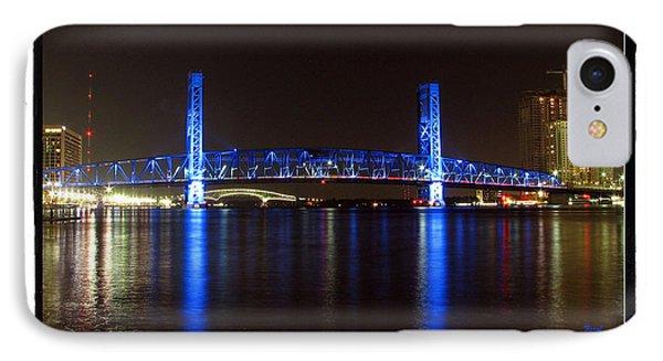 Blue Bridge Of Jacksonville IPhone Case by Farol Tomson