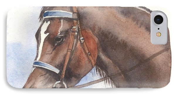 IPhone Case featuring the painting Blue Bridle by Sandra Phryce-Jones