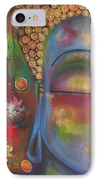 Buddha In Blue Meditating  IPhone Case