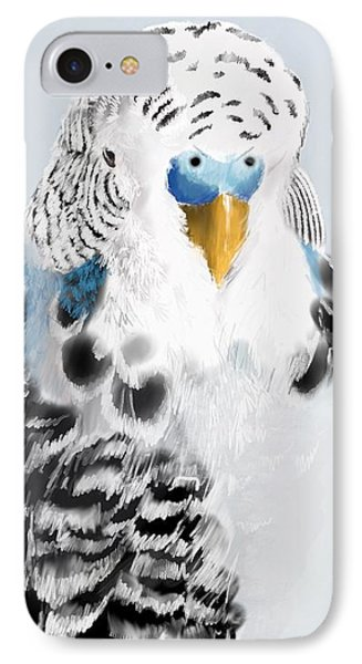 Parakeet iPhone 7 Case - Blue Budgie by KC Gillies