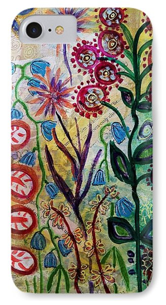 IPhone Case featuring the mixed media Blue Bug In The Magic Garden by Mimulux patricia no No