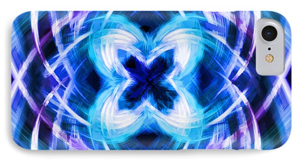 Blue Butterfly IPhone Case by Cherie Duran
