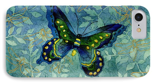 Blue Butterfly IPhone Case by Hailey E Herrera