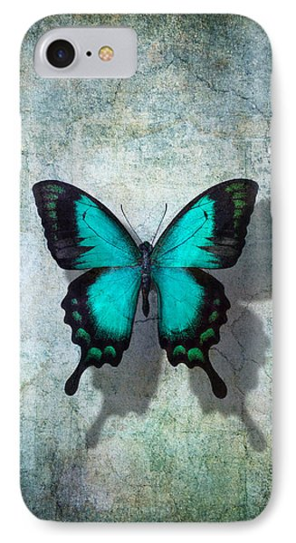 Blue Butterfly Resting IPhone 7 Case by Garry Gay