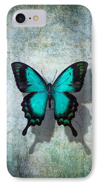 Blue Butterfly Resting IPhone Case by Garry Gay