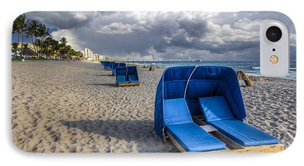 Blue Cabana Phone Case by Debra and Dave Vanderlaan