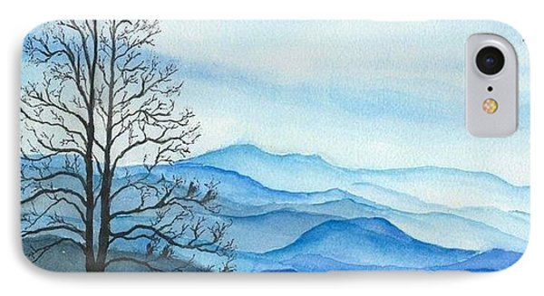 IPhone Case featuring the painting Blue Calm by Rachel Hames