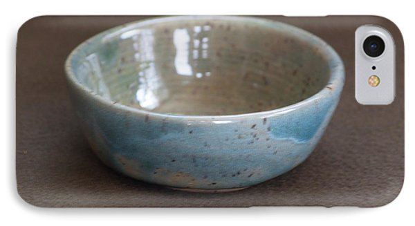 Blue Ceramic Drippy Bowl IPhone Case by Suzanne Gaff