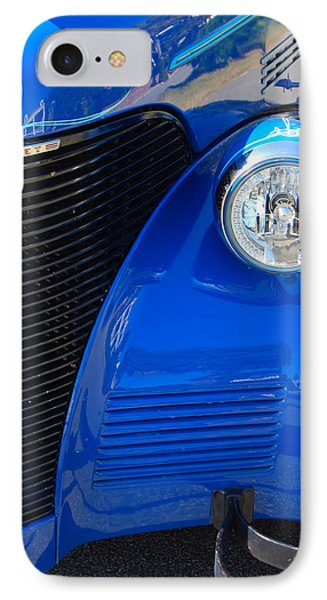 Blue Chevy IPhone Case by Donna Bentley