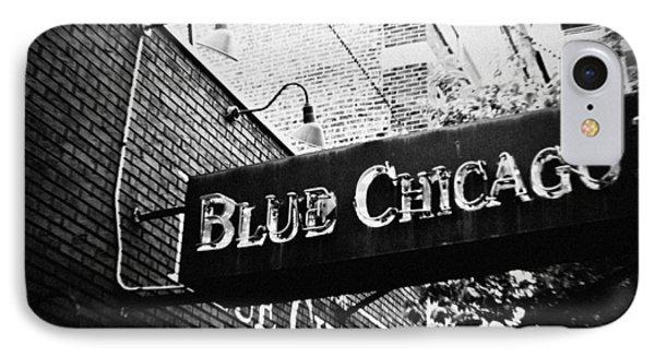 Blue Chicago Nightclub IPhone Case by Kyle Hanson