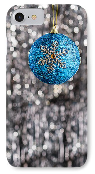 IPhone Case featuring the photograph Blue Christmas by Ulrich Schade