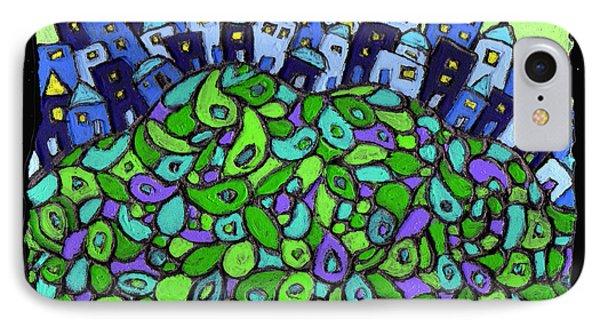 Blue City On A Hill Phone Case by Wayne Potrafka