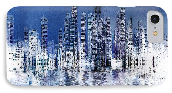 Blue City IPhone Case by Stuart Turnbull