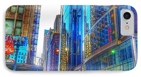 IPhone Case featuring the photograph Blue Cityscape by Marianne Dow