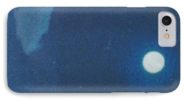 Blue Cloudy Moon IPhone Case