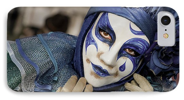 Blue Clown IPhone Case by Stefan Nielsen