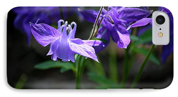 Blue Columbines Phone Case by Teresa Mucha