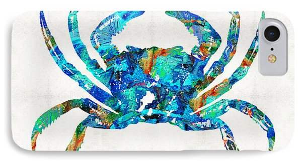 Blue Crab Art By Sharon Cummings IPhone Case by Sharon Cummings