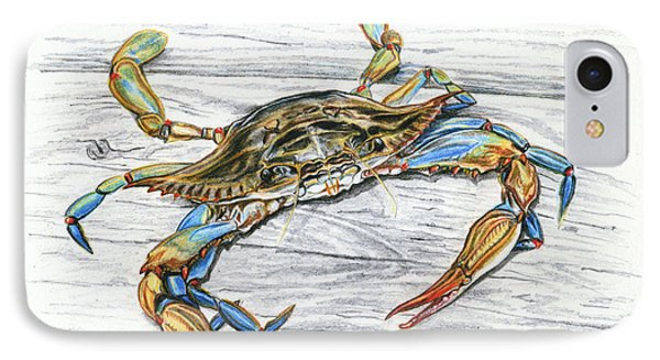 Blue Crab Phone Case by Jana Goode