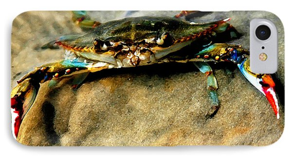 Blue Crab Phone Case by Joan McCool