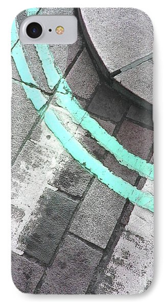 IPhone Case featuring the photograph Blue Curb by Rebecca Harman