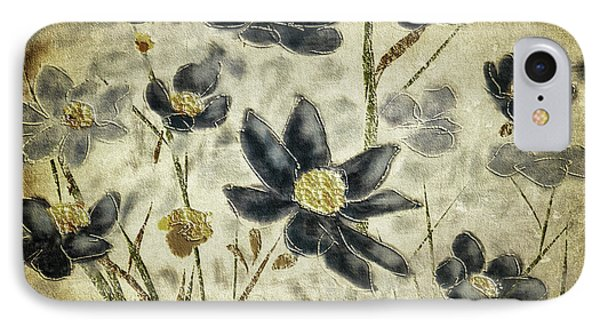 Blue Daisies IPhone Case by Lois Bryan