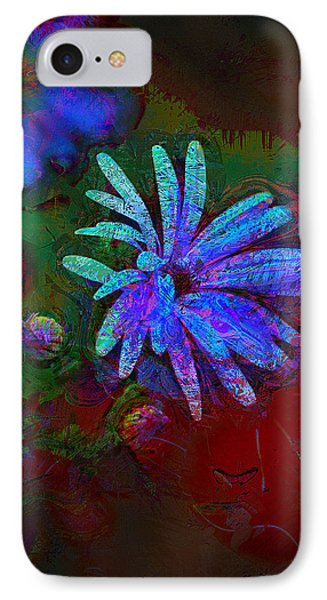 IPhone Case featuring the photograph Blue Daisy by Lori Seaman