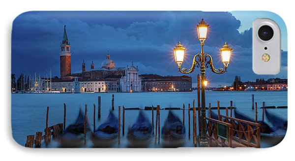 IPhone Case featuring the photograph Blue Dawn Over Venice by Brian Jannsen