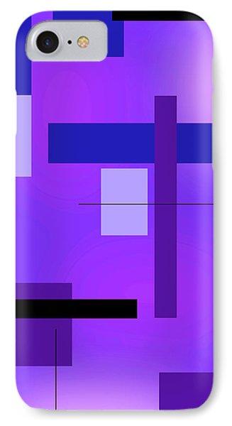 Blue Design 2 Vertical  IPhone Case